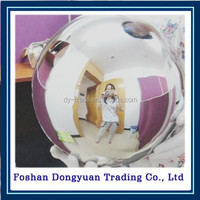 popular style gazing stainless steel hollow balls for home or garden ornament