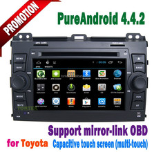 Touch Screen Car DVD for Prado Land Cruiser 120 with wifi 3g gps tv radio IPOD MP3 BT mirror link+2 year warrantys