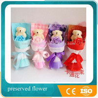 Best Promotioanl Plush toy bear bouquet gifts wedding birthday giveaway gift