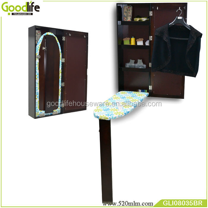 GLI08035space saving dressing mirror ironing board cabinet-2