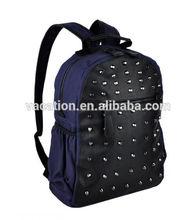 la escuela de color azul y negro mochila de lona racksack