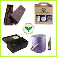luxury cardboard wine bottle paper gift carton box
