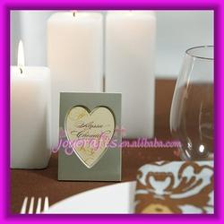 Wedding Table Decoration Mini Magnet Back Aluminum Heart Photo Frame Place Card Holder
