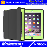 Book style smart leather hybrid shockproof case for ipad pro 12.9 inch