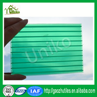 100% virgin lexan Excellent heat insulation polycarboante two layer sheet double wall sheet polycarbonate hollow panel