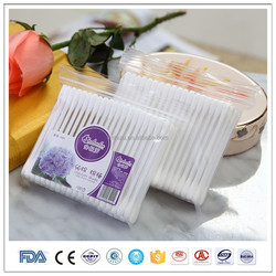 100pcs in bag white color plastic stick cosmetic ear cleaning stick cotton swab manufacturers