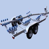 inflatable and aluminum boat trailer series jet ski trailer for sale Boat Trailer