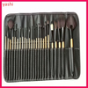 ALIBABA all kinds of Custom logo 24pcs pro professional makeup brushes with PU bag