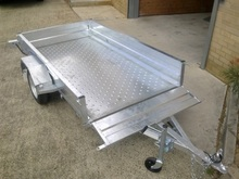 Single Axle Box Trailer with Powder Coated