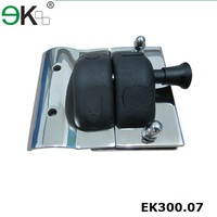 Frameless pool fence glass door latch type toggle clamp