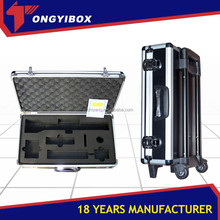 Carring cheap hard aluminum tool gun case with color frame