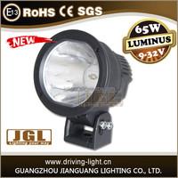 high performance cannon led work light 65w spot 12v 24v led work light waterproof single beam led work light