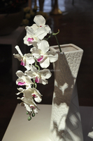 Home decorate cheap decoration orchid vanda silk flower