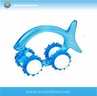 promotional plastic fish shaped massager