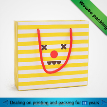 lovely yellow paper bag for baby clothing packaging