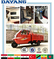 china 4 stroke gasoline 250cc water cooled cabin three wheel motorcycle with good quality