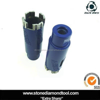 Diamond Dry Core Drill Bit with Vacuum Brazed Protective Teeth for Granite