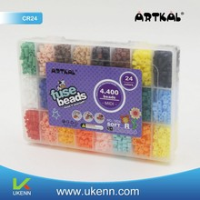 ARTKAL fuse beads 4,400 pcs/ box 24 colors CR24 handmade craft toy for IQ development