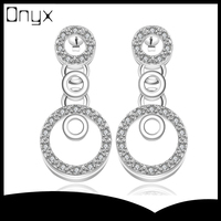 Wholesale diamond sterling silver stud earrings with chain designs