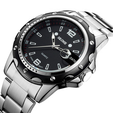 top selling products 2015 silver stainless steel mens clock quartz sports wrist watch