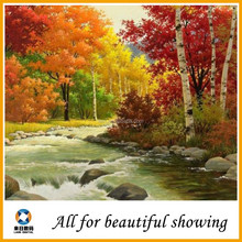 Waterproof oil painting polyester canvas, interior decoration oil painting, oil painting of maple tree