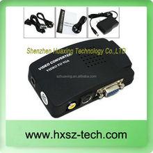 VGA to RCA/ AV to VGA/ VGA TO VIDEO/ AV Signal TV S-Video Converter Box Adapter