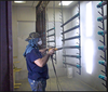 Superior quality powder coating and steel substrate electrostatic spray paint booth