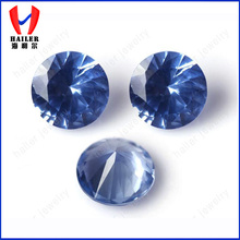 synthetic round brilliant cut 2.0mm blue spinel