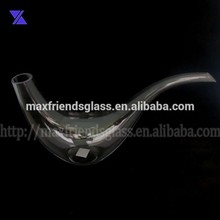 snail shaped glass wine decanter