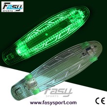 Fasy classical clear PC skateboard with wholesale price