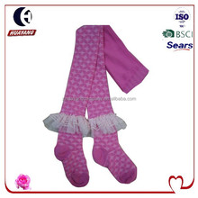 girls fashion cotton tights with lace-Zhuji Huayang Import&Export Co., Ltd.
