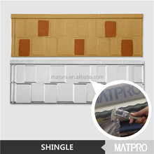 lightweight flat concrete color stone coated metal roof tile