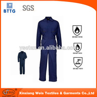 2015 new design pyrovatex cotton nylon fireproof workers overall uniform
