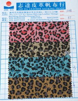57'' Width Fashion High Quality Coating Leopard Printing 100% Cotton Canvas Fabric for Making Backpack for Shoes