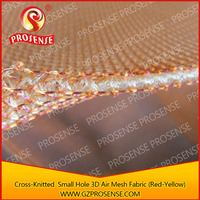 Prosense Cross-Knitted Small Hole 3D Air Mesh Fabric with Gold Thread