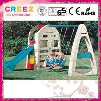 Top grade plastic garden swing playset for children