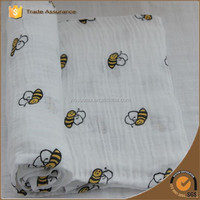 100% Organic cotton muslin fabric for baby