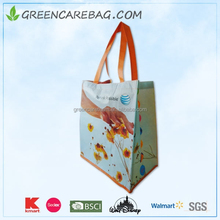 Eco-friendly laminated reusable rPET nonwoven shopping bag