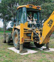 Tile grass cutting equipment in agriculture polyester