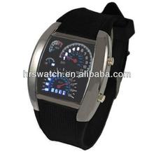 water-proof quartz LED watch,led pilot watch