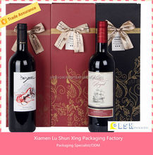 hot selling dimension of carton wine box made in china