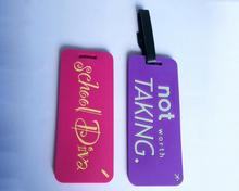 high quality luggage bag and luggage tag 2d