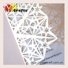 Fancy wedding supplies laser cut lucky star handmade paper invitation cards