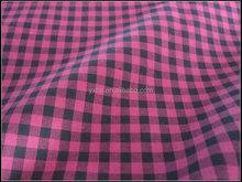 100% Cotton red white plaid dark blue Fabric