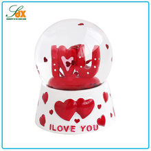Fashion Superior Quality Beautiful Wedding Gifts Love Heart Snow Globe / Custom Wedding Gifts Snow Globe
