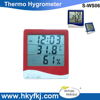 CE ROHS Portable Digital Hygrometer Hygro Thermometer with Alarm Clock LCD Display(S-WS06)