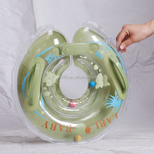 transparent lovely imprint swimming neck ring,inflatable baby float neck ring