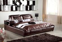 Diseños modernos cama 2014/cama sofá de cuero/king size cama de cuero c212