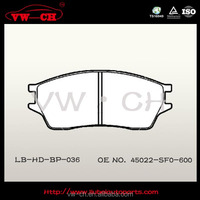 High quality Brake pads with reasonable price 45022-SF0-600