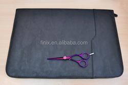 Professional 20 PCS/SET Zipper Leather Hair Scissors Case